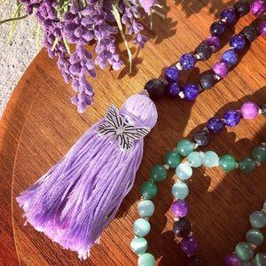 Jewelry - Handmade Lavender Fields Mala Bead Necklace